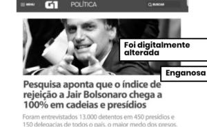 Pesquisa em presídios que indicaria rejeição a Bolsonaro não tem registro no TSE