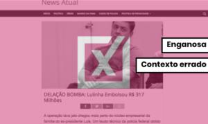 Post diz que Lulinha embolsou R$ 317 milhões e atribui informação a delação inexistente