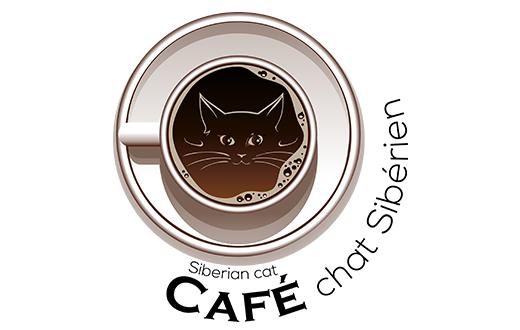 Café chat Sibérien Logo