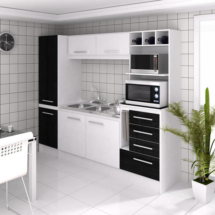 Cocina HANNOVER 4 Puertas 4 Cajones + Panelero 2 Puertas | Muebles