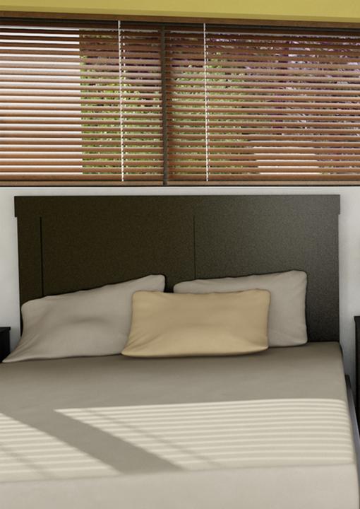 Cabezal de cama dos plazas blanco avenida muebles for Avenida muebles uruguay