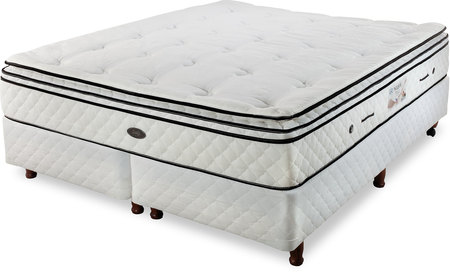 Sealy Colchón y Sommier de 160x200 Sealy Black Moline con Base blanca (Queen)
