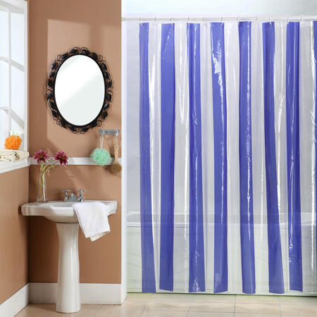 Decorinter Cortina de baño Decorinter de PVC Cristal Line