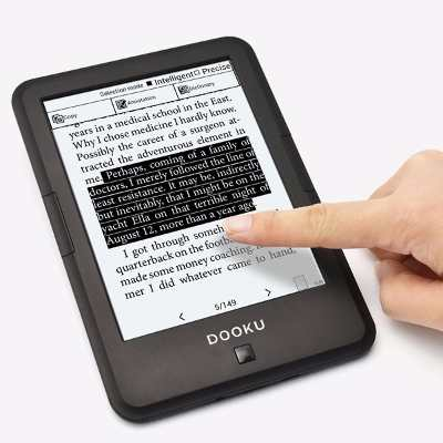 Datasoft Dooku Paperwhite +qkindle Hd 8gb E-book Luz Mp3 Funda Gratis