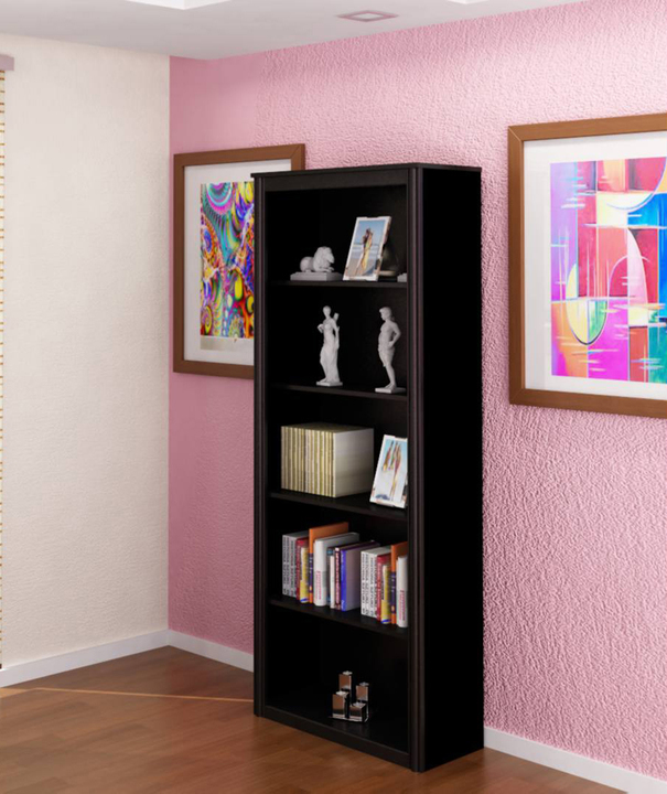 Biblioteca con estantes negro avenida muebles - Muebles con estantes ...
