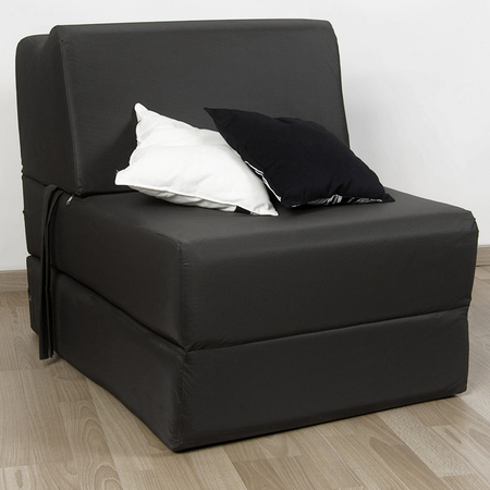 Covertibles - Arcoiris Sillón Colchón Arcoiris Arial 1 plaza - Negro