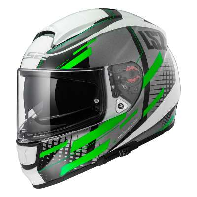 LS2 Casco Integral Ls2 Ff 397 Vector Ft2 Titan Green Doble Visor