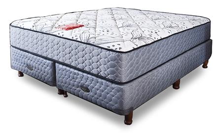 colch n y sommier de 130x190 springwall mcb 115 con base r gida mm 1 1 2 plaza springwall. Black Bedroom Furniture Sets. Home Design Ideas