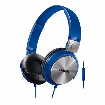 On-Ear - Philips Auriculares Philips SHL3165BL/00 Banda Sujetadora