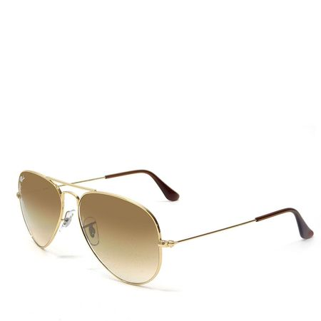 Ray Ban Lentes de Sol Ray Ban Aviador Large Gold Brown Grad Ray Ban
