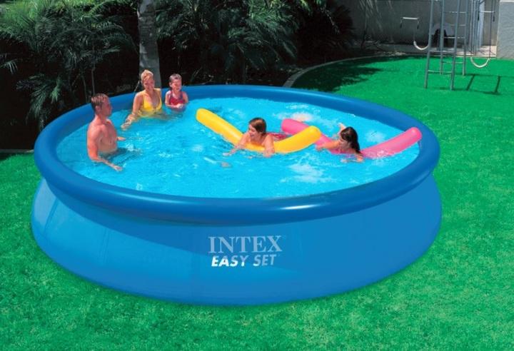 Pileta intex easy set 10000 litros 18823 8 celeste intex for Precio de piletas inflables
