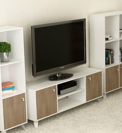 Mesa De Tv Escandinava Blanco Ciliegio Muebles