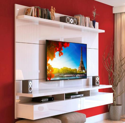 Rack colgante city 1 8 para tv hasta 55 muebles for Muebles para smart tv 55