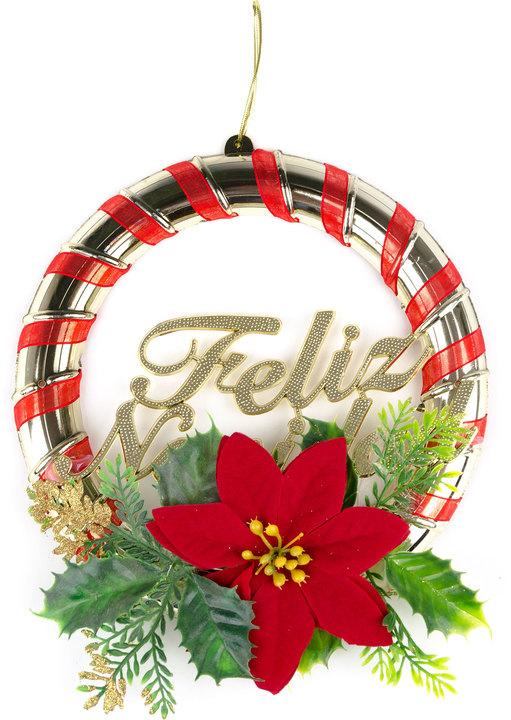 Corona navide a feliz navidad avenida store - Decoracion navidena amazon ...