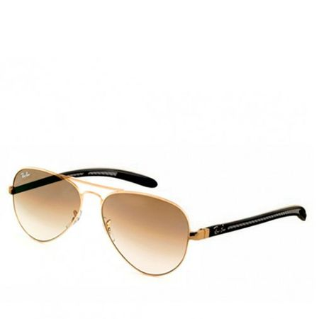 Ray Ban Lentes de Sol Aviador Carbon Fibre Gold Brown Gradient Ray Ban