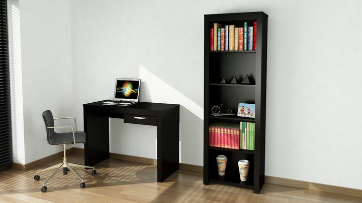 Combo escritorio cajon biblioteca con cinco estantes for Combo muebles hogar