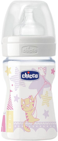 Mamaderas - Chicco Mamadera Chicco Wellbeing Girl 150 ml 2m+
