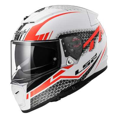 Cascos - LS2 Casco Integral Ls2 Ff 390 Breaker Split Red Doble Visor