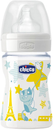 Mamaderas - Chicco Mamadera Chicco Wellbeing Boy 150 ml 0m+