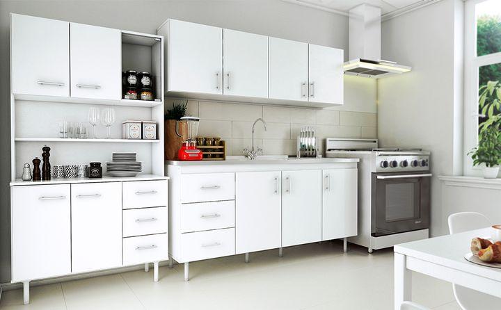 Triplo Kit Cocina Blanco | Muebles