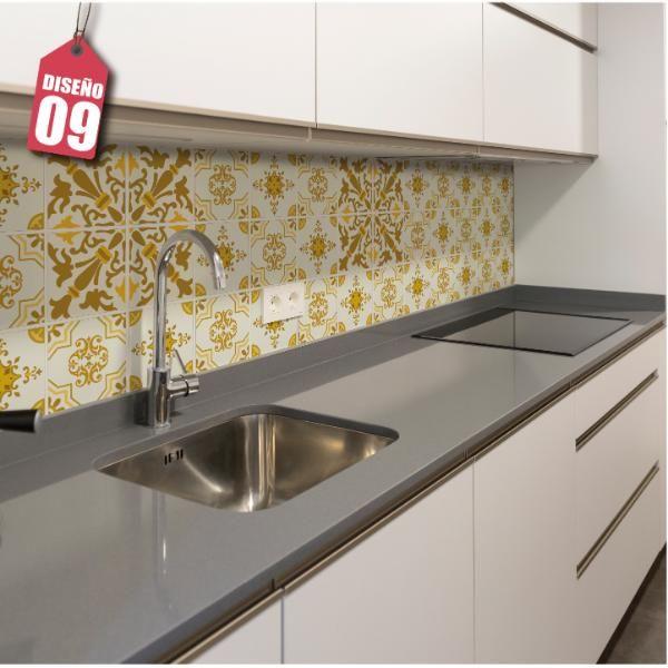Mural deco para cocina - Diseño Amarillo 009 - Imperial Puro Diseño