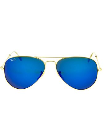 Ray Ban Lentes de Sol Ray Ban Aviador Large Metal Gold Blue Mirror Ray Ban