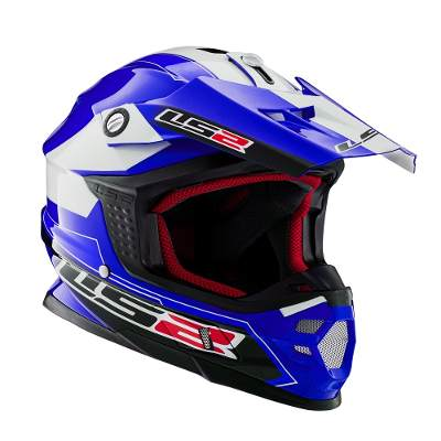 Cascos - LS2 Casco Cross Ls2 456 Launch Doble Anillo Retencion Oficial