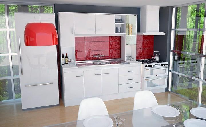 Super Combo Cocina con Bacha 1.20 mts Blanco