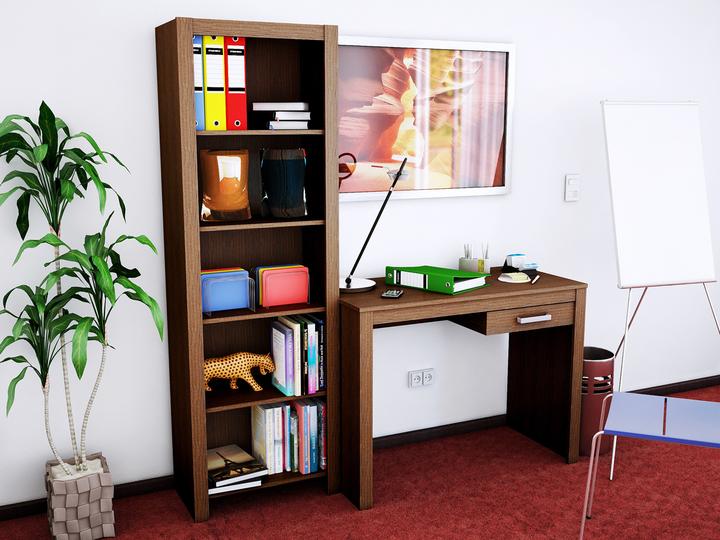 Muebles Oficina Escritorios Combo Escritorio Cajon + Biblioteca con