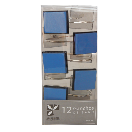 Ganchos - Decorinter Pack 12 ganchos de cortina Decorinter Cube