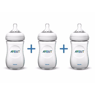 Avent Pack Mamadera Natural Philips Avent Scf693/17 260 Ml X3