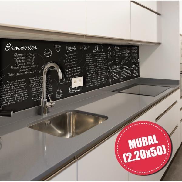 Mural deco para cocina - Diseño Recetas 003 Blanco | Imperial Puro ...