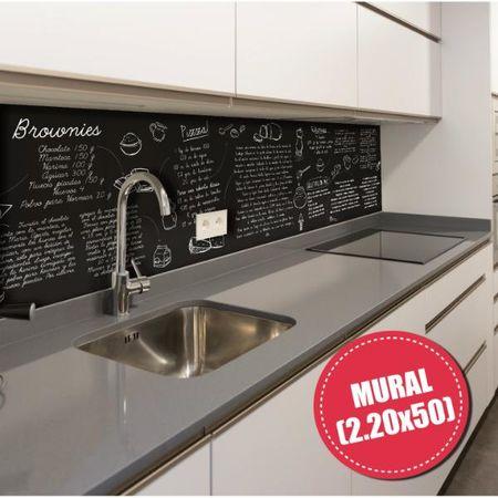 Mural deco para cocina - Diseño Recetas 003