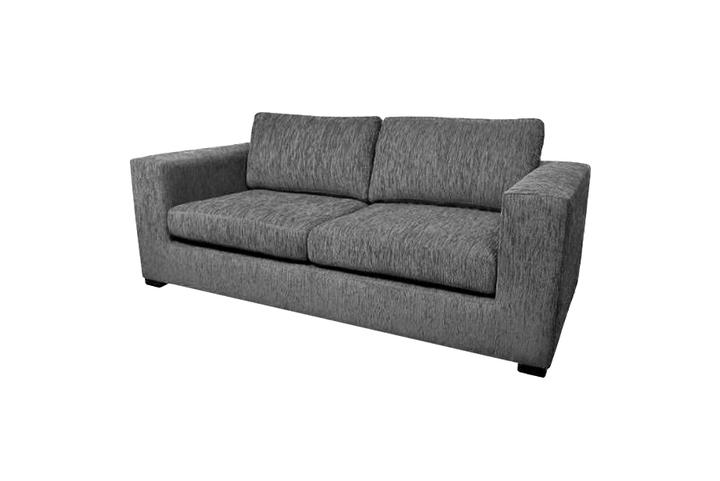 Sof de chenille 2 cuerpos barcelona gris claro muebles for Muebles y sillones quilmes
