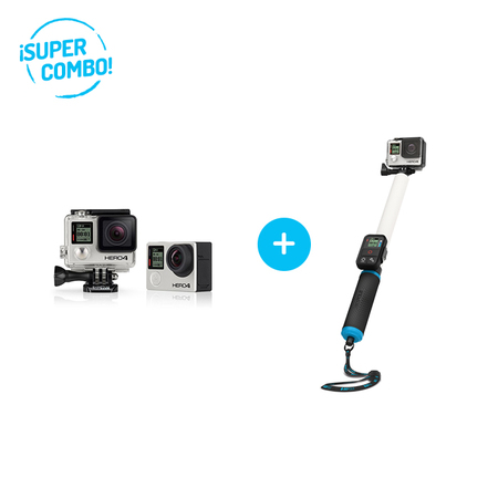 GoPro Combo Camara GoPro Hero 4 Black + Baston GoPole Reach