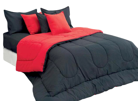Love and Home Acolchado Love & Home reversible bicolor (king size)