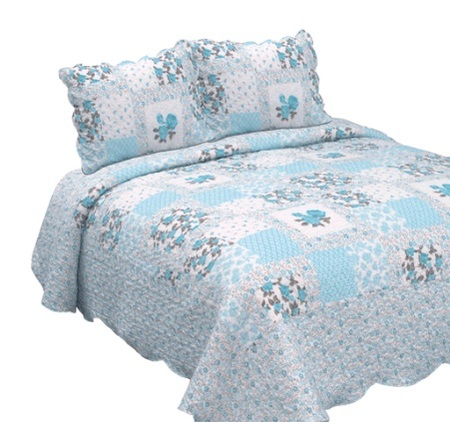 Queen size - Decorinter Cubrecama estampado Queen Size Augusta