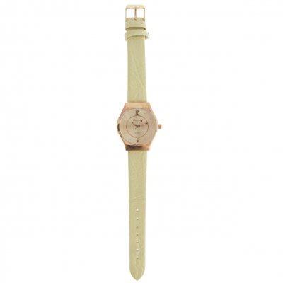 32805cc62c8d Relojes - Dufour Reloj Dufour Original Mujer Malla De Cuero Beige