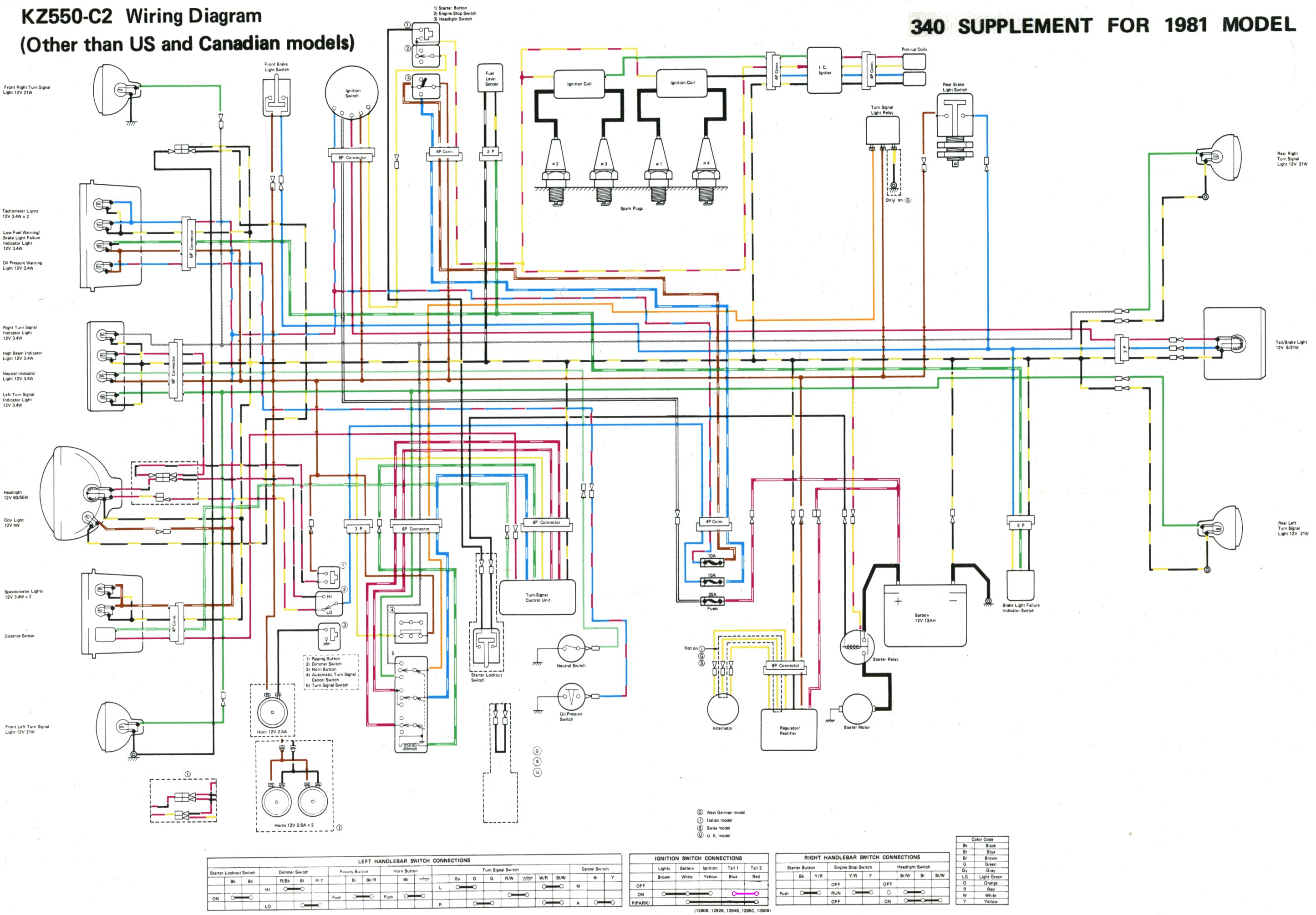some kz 400/500/550 wire diagrams ford e 450 wiring diagram a c