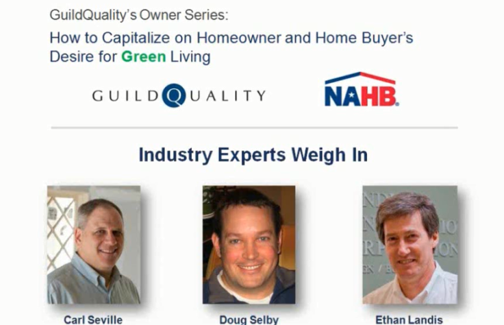 Recording Now Available: Capitalizing on Homeowner and Home Buyer's Desire for Green Living