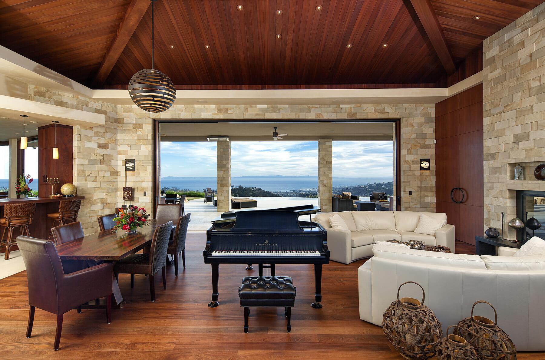 Modern Indoor Outdoor Living (12) living room through