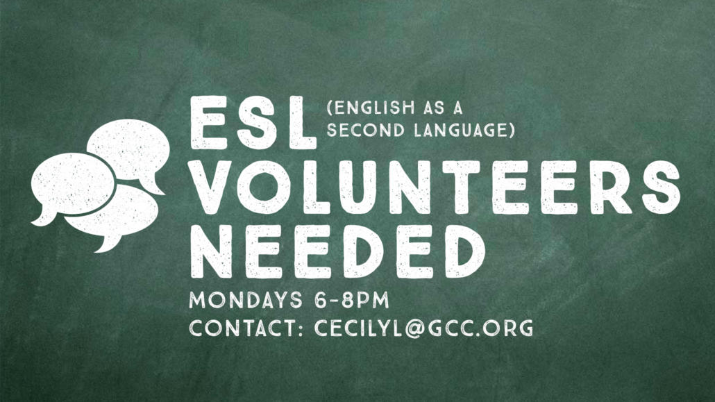 ESL Classes – Volunteers Needed
