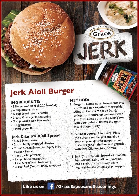 Jerk Aioli Burger Recipe