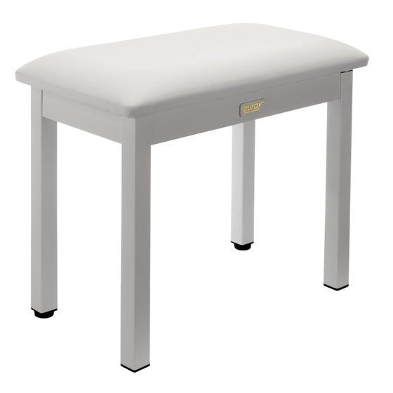 Auray PBM-FW Metal Frame Piano Bench (White) | Auray
