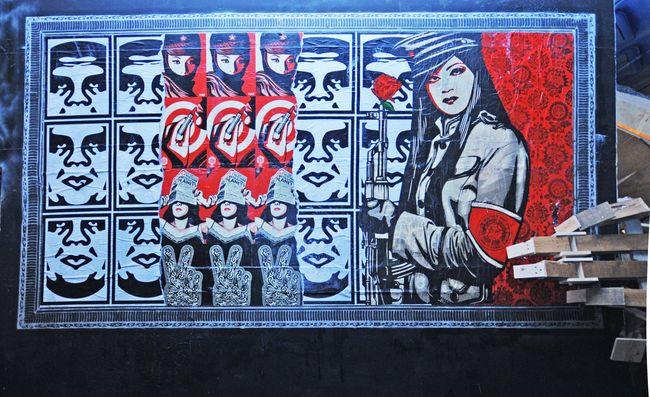 Fresques Par Obey - Londres (Royaume Uni)