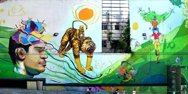 Fresques Par Aire, Jaz, Poeta, Ever - Buenos Aires (Argentine)