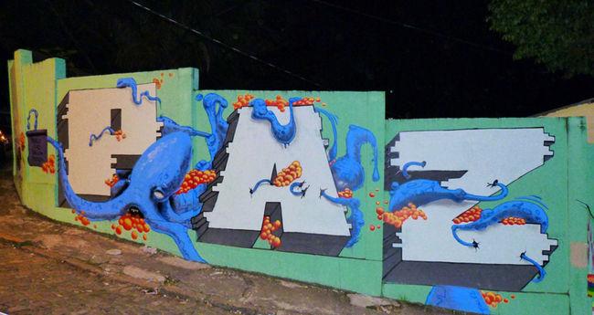 Fresques Par Maspaz, Makatron - Rio De Janeiro (Bresil)