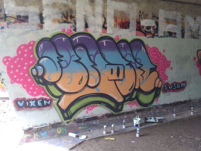 Throw Ups Par Fosah - Newcastle Upon Tyne (Royaume Uni)