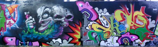 Fresques Par Mr.zero, Fat Heat, Sket185 - Amsterdam (Pays-Bas)