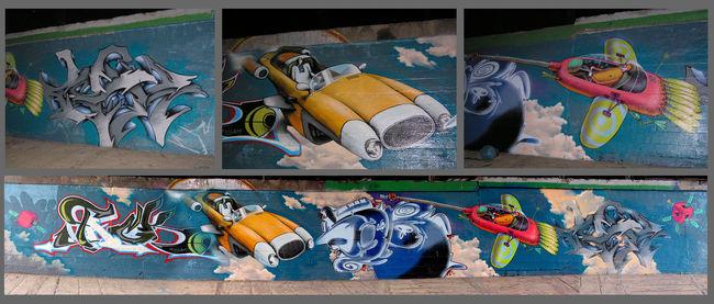 Fresques Par Aec, Waone, Rusk, Cik, Justo - Kiev (Ukraine)